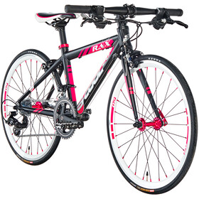 s'cool raX 20 flat Vélo de route Enfant, black/red matt